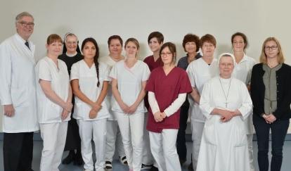 Team der Klinik für Palliativmedizin. Foto: Popp