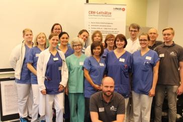 Ärzte und Pflegekräfte nahmen gemeinsam am Schockraumtraining teil