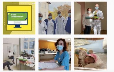 Interessante Einblicke in den Berufsalltag im Krankenhaus auf Instagram.