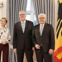 Prof. Hardinghaus beim Neujahrsempfang mit Bundespräsident Steinmeier und Ehefrau Elke Büdenbender. Foto: Bundespräsidialamt